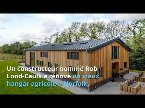 Il transforme un vieux hangar agricole en maison de luxe youtube - Hangar maison ...