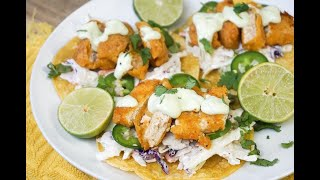 Vegan Air Fryer Fish Tacos | #VEGAN #TACOTUESDAY
