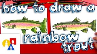 a trout drawing lesson