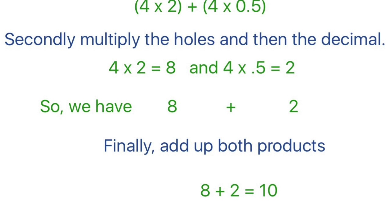 Multiply Decimals using Distributive Property 5.NBT.7 and 2 Go Math ...