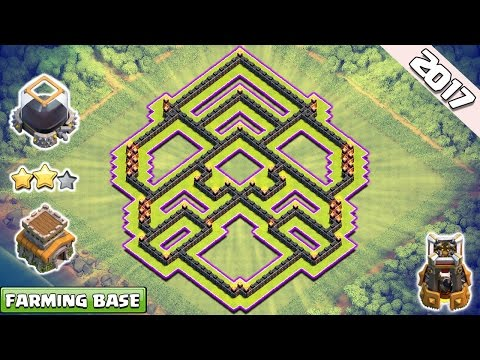 Clash of Clans Town Hall 8 TH8 Dark Elixir Farming Base 2017 ♦ Dark Elixir Protected TH8 Farming Bas
