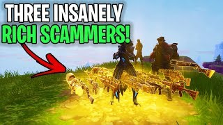 3 crazyly RICH Crazy Scammers Exposed!🤣 (Scammer Get Scammed) Fortnite Save The World