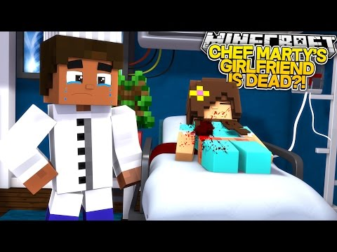 CHEF MARTY'S GIRLFRIEND IS IN A COMA?! w/Little Carly and Cassie the Cat (Minecraft Roleplay)