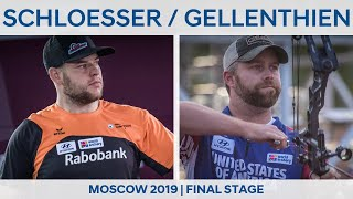 Mike Schloesser v Braden Gellenthien - compound men gold | Moscow 2019 World Cup Final