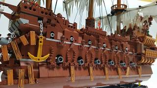 lepin 16016 Pirates of the Caribbean : Flying Dutchman Upgrade Custom
