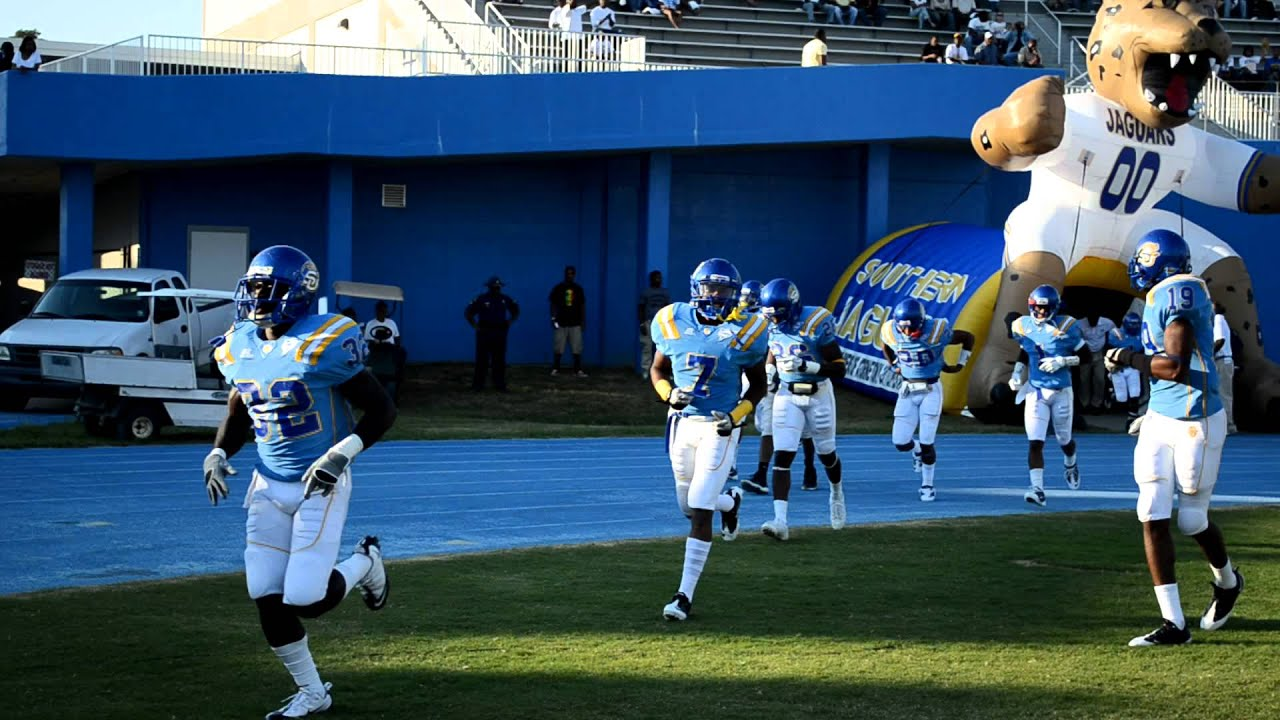 Wonderful The 2011 Southern Jaguar Football Team Running Out Of The Tunnel