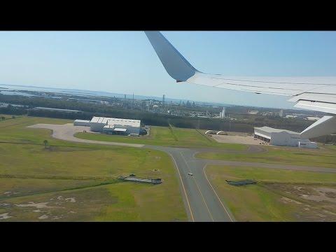 Qantas flight from Brisbane to Adelaide | Takeoff and landing | Australia, 2015