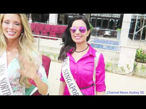 Mrs Globe 2016 - Backstage fun with Mrs Singapore and Mrs North America