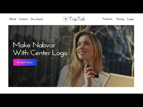 How To Make Website With Center Logo Using HTML CSS Bootstrap | Tutorial For Beginners