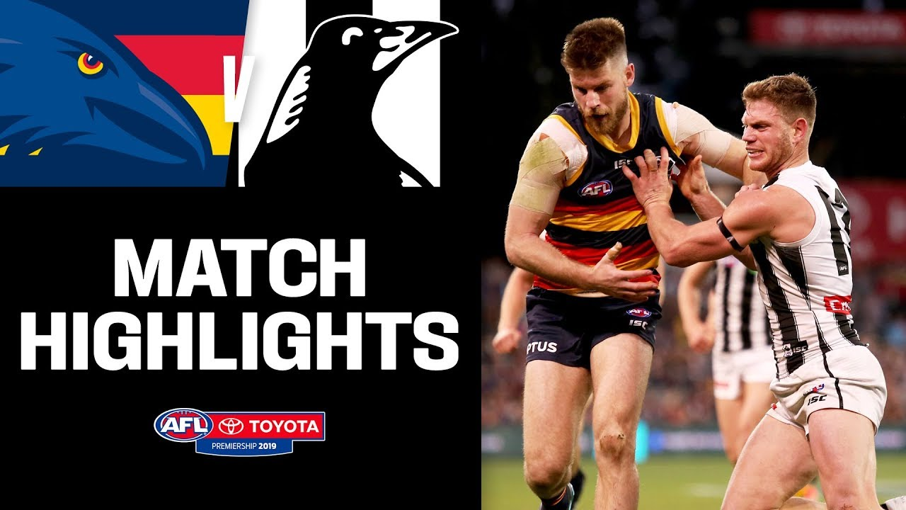 Adelaide v Collingwood Highlights | Round 22, 2019 | AFL