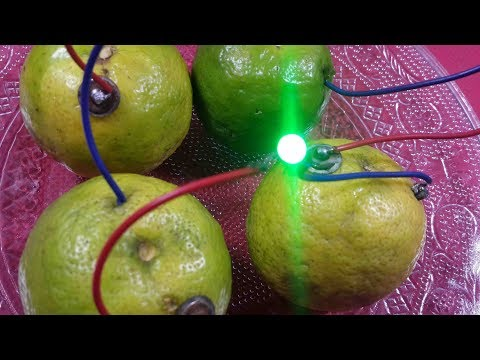 How to make lemon fruit battery 2017 latest