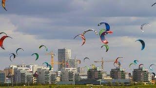 Open ocean kiteboarding competition in Sweden