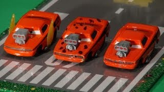 Disney Pixar Cars Tribute To Snot Rod, With Mack, Lightning, Dj, Wingo And Boost