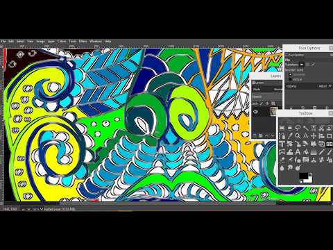 Quick Abstract colouring in GIMP with G'MIC PLUGIN thumbnail