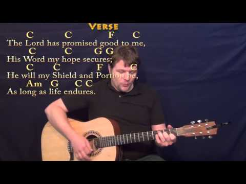 Amazing Grace (HYMN) Strum Guitar Cover Lesson in C with Chords/Lyrics
