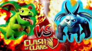 BABY DRAGON VS MINION/Clash of Clans Polska/3STARS/TH6