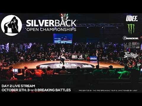 Silverback Open Championships '15 Live Stream | Day 2 | 3-v-3 Battles | UDEF x Monster Energy