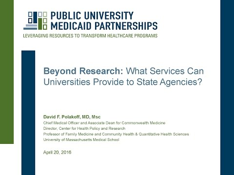 Beyond Research: What Services Can Universities Provide to State Agencies?