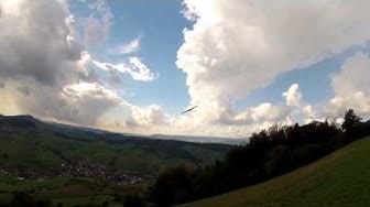 Hangfliegen am Laubi, Wetter schön Wind schwach, 100% Spass