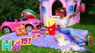Hayal Ailesi. Polen Adrian için piknik yapıyor. Çocuk dizisi