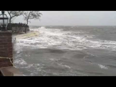 Hurricane Sandy 1246pm High Tides Waves New Rochelle Ny Long