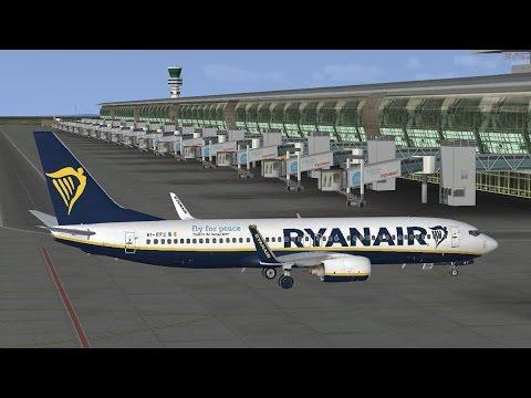 Brussels EBBR to Dublin EIDW Ryanair PMDG 737-800 EI-EFC Vatsim **FSX**