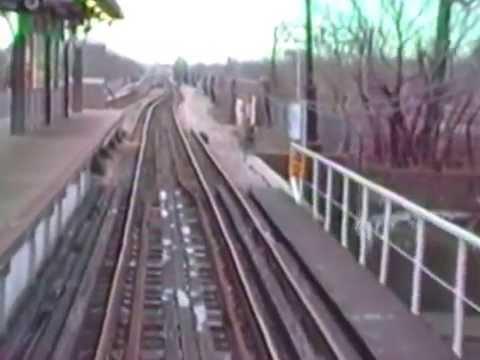 RIDE THE TRAIN: Chicago L  1985.  Incl 63 to Dorchester, vlslble track/bridge to Stony Island
