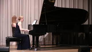 Bizet Symphony in C major: 3. Allegro vivace  - Anastasia & Liubov Gromoglasova