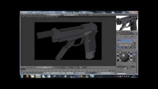 Speed Texturing Beretta 93R [Blender 2.68]