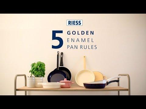 RIESS – 5 goldenen enamel pan rules (english version)