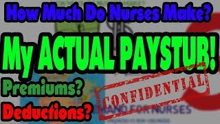 How Much Money Do Nurses Make? (my ACTUAL PAYSTUB)
