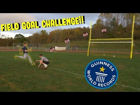FARTHEST FIELD GOAL CHALLENGE!!! *World Record*