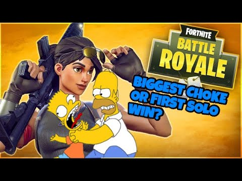Biggest choke ever or First solo win??|FORTNITE BATTLE ROYALE