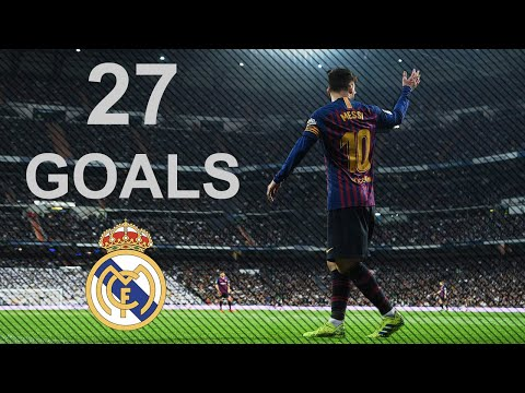 Lionel Messi All 27 Goals Vs Real Madrid - El clasico