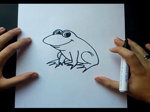 Como dibujar una rana paso a paso  How to draw a frog  YouTube