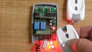 universal rolling fixed code receiver programming procedure with dea 433 92mhz remote controls