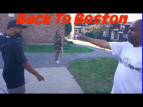 Hustle goes back to Boston to  visit one of his old neighborhoods