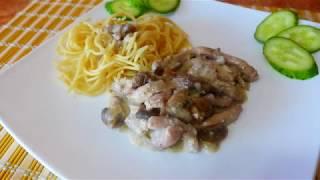 Свинина в нежном сливочно-грибном соусе | Ужин | Обед | Блюда из мяса