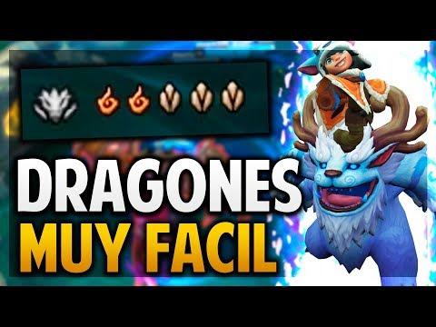 ¡GANANDO SOLO CON DRAGONES! | NUNU ESTA OP! | League of Legends thumbnail