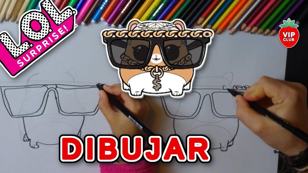 Cómo Dibujar Una Muñeca Lol Surprise Series 3 Pets Mc Hammy Videotutorial Diy