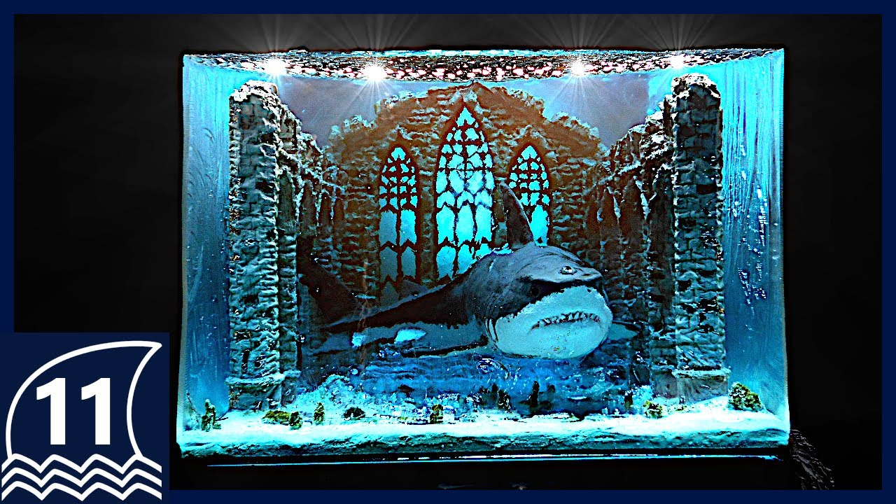 DIY. Ruins and Guardian Resin Art【How to make / Diorama / Sculpture / shark / thalassophobia】