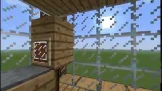 Красивый дом в майнкрафт|| стеклянная крыша!(, 2015-03-28T14:26:14.000Z)