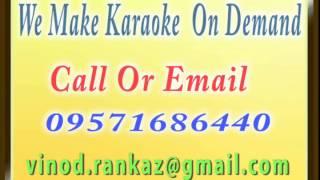 Tere Liye Maine Sabko Chhoda   Karaoke   Anand Asharm