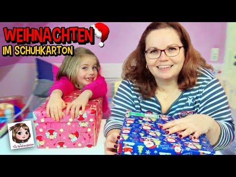 WEIHNACHTEN IM SCHUHKARTON 🎁 Wir packen Geschenke für Kinder! 💝