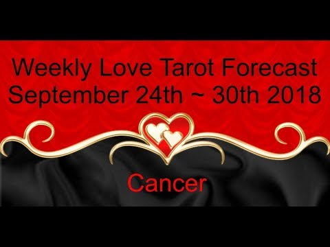 Cancer *Enchanted by deep desire*  ~ Sept 24th - 30th 2018