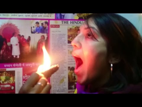 How Funny!! Eating Fire Paan - Betel Leaf With FIRE.