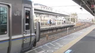 JR西日本 223系2000番台 普通 野洲行き 膳所駅 20190301