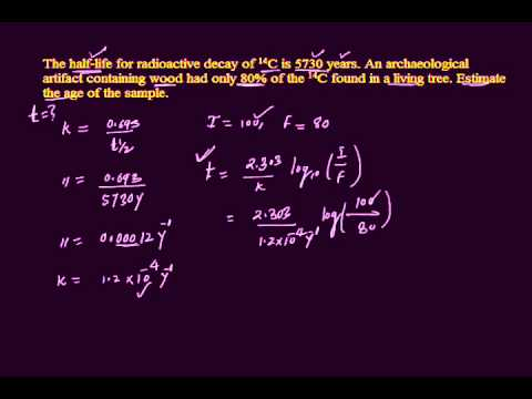 Half-Life Calculations: Radioactive Decay from YouTube · Duration:  7 minutes 44 seconds
