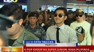 BT: K-Pop group na Super Junior, nasa Pilipinas para sa kanilang concert mamayang gabi