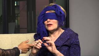 Watch what happened when we blindfolded Helen Zille and asked her to eat random things